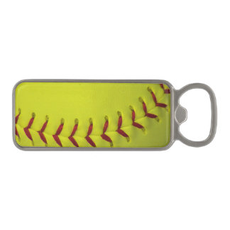 Gul softball för neon magnet kapsylöppnare