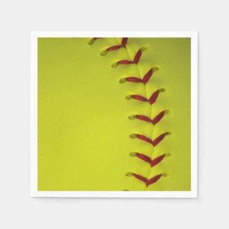 Gul softball för neon servetter