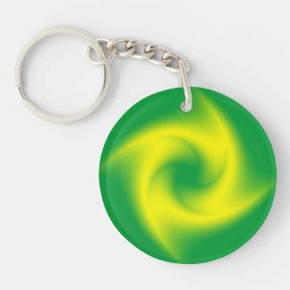 Gul spiral på grönt
