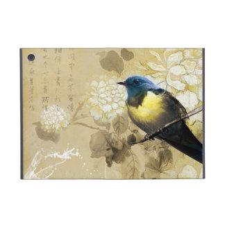 Gul trastfågel för blått - kinesisk målningkonst iPad mini skydd