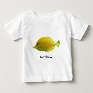 Gul tropisk fisk t-shirt