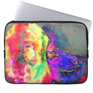 Gul vallmo laptop sleeve