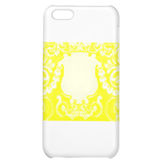 Gul vit för platta de MUSEUMZazzle gåvorna iPhone 5C Mobil Skydd