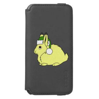 Gula arktiska Hare med den gröna Santa för jul