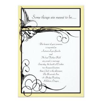 Gula blom- bröllopinbjudningar för kanariefågel 12,7 x 17,8 cm inbjudningskort