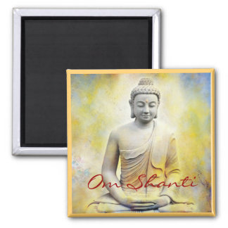 Gula Buddha, Om Shanti Kylskåps Magneter