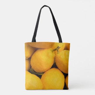 Gula citronfrukter tygkasse