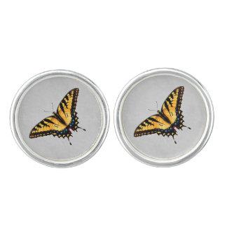Gula Cufflinks för tigerSwallowtail fjäril