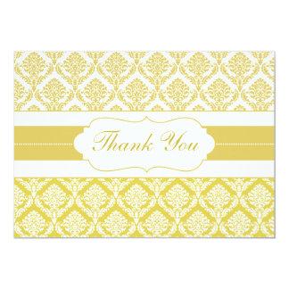 gula damastast tackkort 12,7 x 17,8 cm inbjudningskort