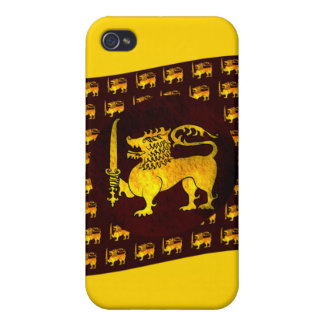 Gula lejona Sri Lanka iPhone 4 Fodral