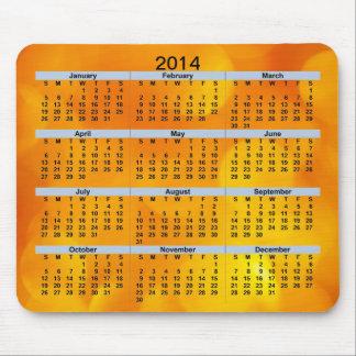 Gula och orange Mousepad för kalender 2014 Musmatta