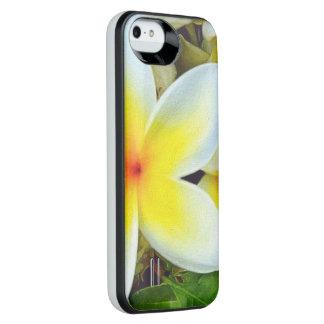 Gula vitblommor iPhone SE/5/5s batteri skal
