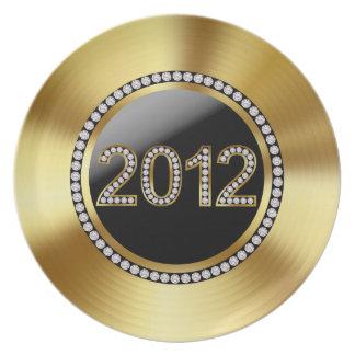 Guld 2012 och rhinestonen förskönade helgdag tallrik