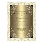 Guld- 20-talart déco som gifta sig inbjudan