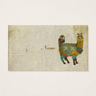 Guld- alpaca- & krickaugglavisitkort/märkre visitkort