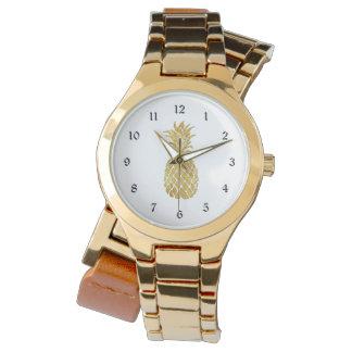 guld- ananas armbandsur