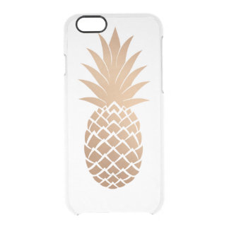 Guld- ananas clear iPhone 6/6S skal