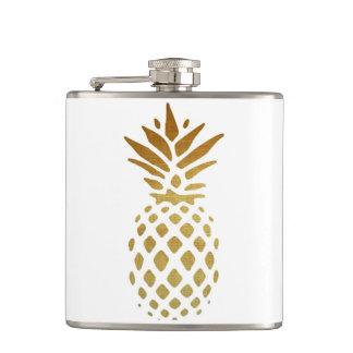Guld- ananas, frukt i guld fickplunta