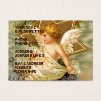 Guld- ängel för vintage för stjärnaandlig | visitkort