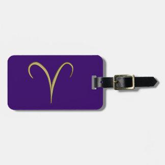 guld- aries bagagebricka