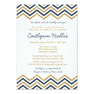 Guld- baby, möhippa eller födelsedag för 12,7 x 17,8 cm inbjudningskort