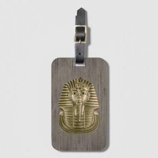 Guld- bagagemärkre för kung Tut Bagagebricka