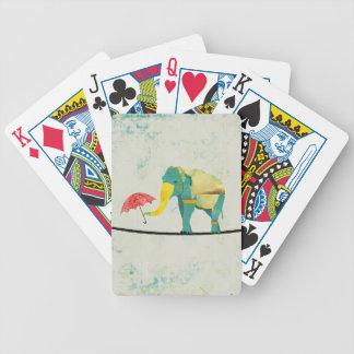Guld- behagfullt elefantkortdäck spelkort