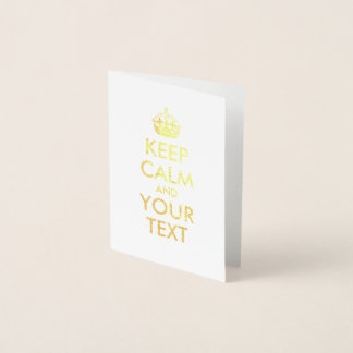 Guld- behållalugn och din text folierat kort