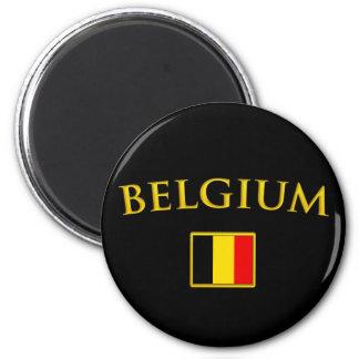 Guld- Belgien Magnet