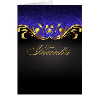 Guld- blått för art nouveauVegas tack | OBS Kort