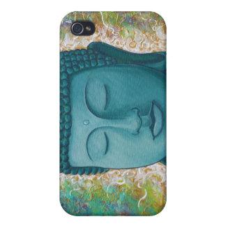 Guld- blåttBuddha iphone case iPhone 4 Fodraler