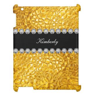 Guld- Bling stil iPad Mobil Fodral