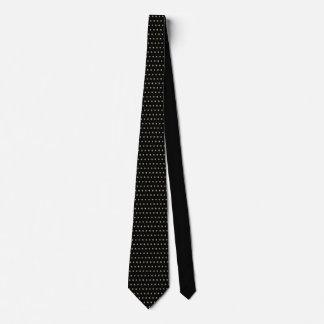 Guld- blom- motiv på svart Tie vid DelynnAddams Slips