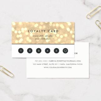 Guld- Bokeh | för champagne lojalitet Visitkort