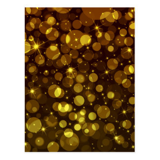 Guld- Bokeh ljus Vykort