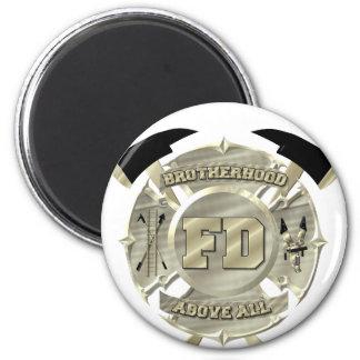 Guld- brandmanbrödraskapsymbol magnet