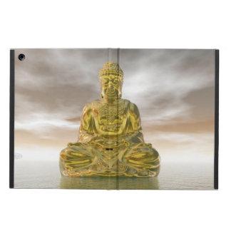 Guld- buddha - 3D framför iPad Air Fodral