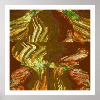 Guld- Crystal konst: Läka energiAuralokalvård Poster