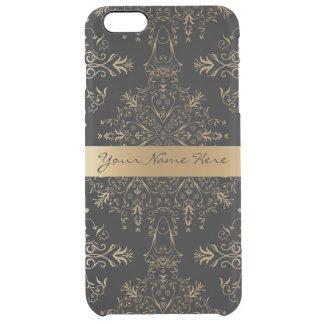Guld- damast för elegantpersonligvintage clear iPhone 6 plus skal