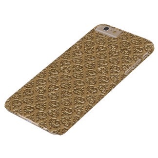 Guld- damastast IPhone 6 plusfodral Barely There iPhone 6 Plus Skal