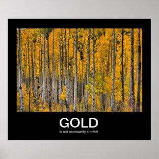 Guld- Demotivational affisch