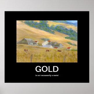 Guld- Demotivational affisch Poster