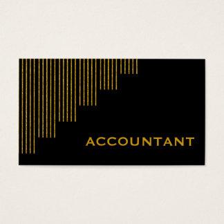 Guld den svart lodrät görar randig revisorn visitkort