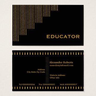 Guld den svart lodrät görar randig utbildare visitkort