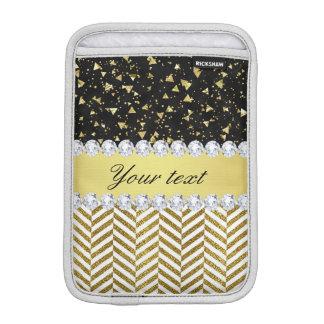 Guld- diamant Bling för konfettitriangelsparrar iPad Mini Sleeve