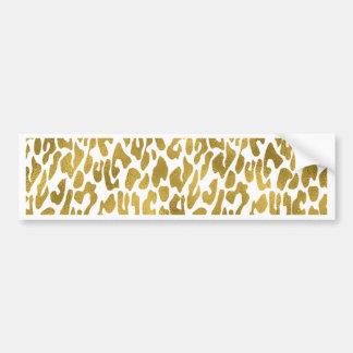 Guld- djurt tryck bildekal