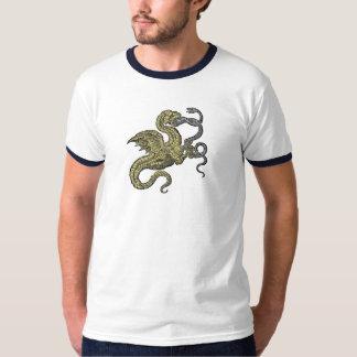 Guld- drakestridighetorm tee shirt
