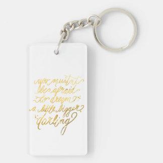 """Guld """"dröm- större"""" Keychain"""