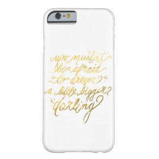 Guld- drömmaretelefonfodral barely there iPhone 6 skal