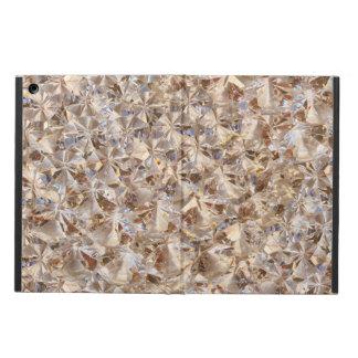 Guld- eleganskristalldekor iPad air skydd